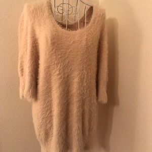 Knitted & Knotted Scoop Neck Sweater Peach XL